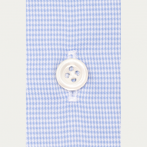 Slim fit light blue micro...