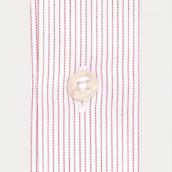 Slim fit thin red stripes...