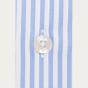 Classic fit blue stripes twill shirt