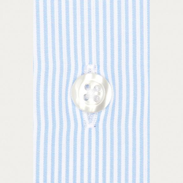 Chemise classique en popeline à petites rayures bleues