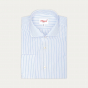 Double Cuff Blue Stripe Shirt