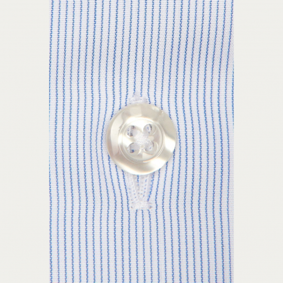 Blue Semi Plain Striped...
