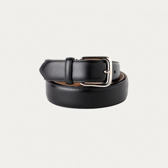 Black full-grain leather belt