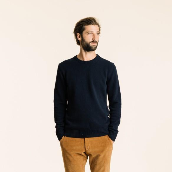 Blue merino wool jumper