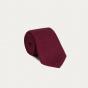 Cravate rouge en grenadine de soie et coton