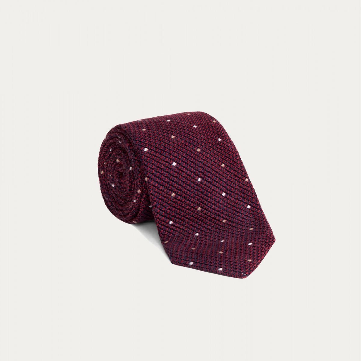 grande remise acheter pas cher les ventes chaudes Cravate Slim Grenadine de Soie Rouge à Pois | Hast