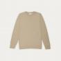 Beige fine textured merino wool jumper