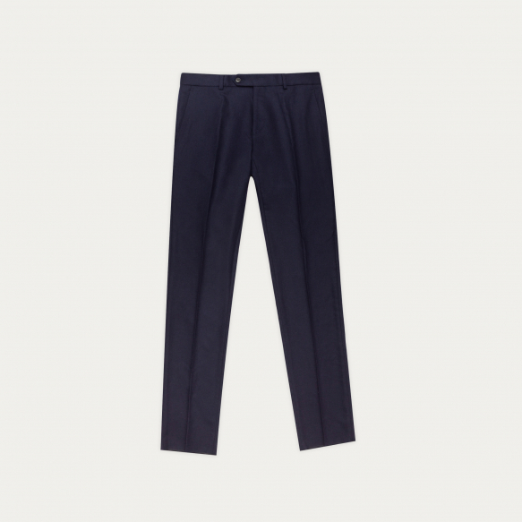 Blue wool flannel trousers