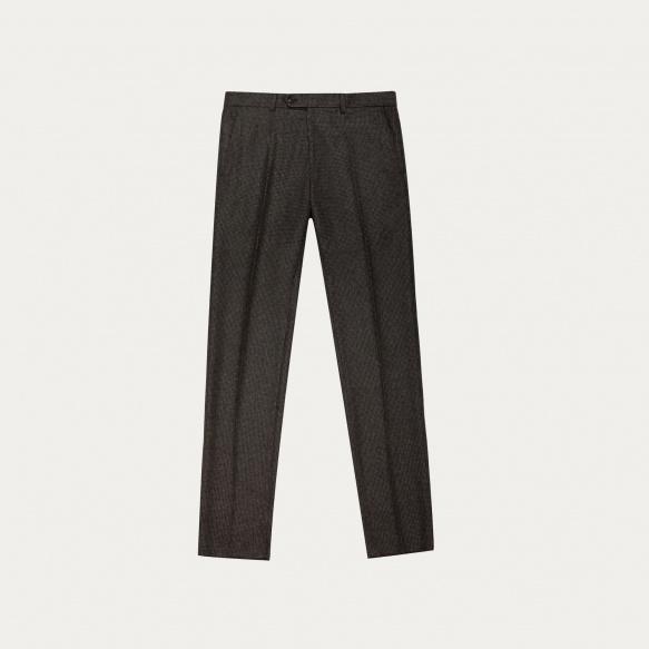 Pantalon pied-de-puce marron