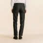 Brown wool flannel micro houndstooth trousers