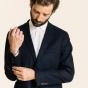 Blue wool flannel jacket