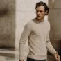 Pull en fine laine mérinos texturée beige