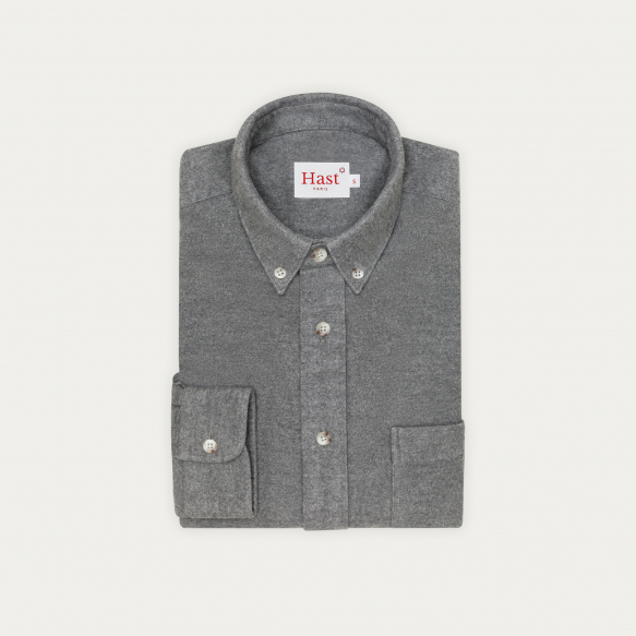 Thick grey flannel casual...