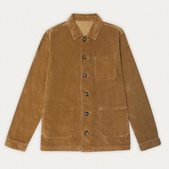 Camel corduroy worker's jacket