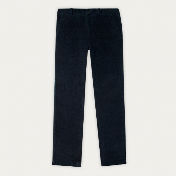 Blue corduroy chino pants