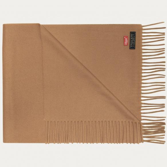 Grande écharpe en laine vierge camel