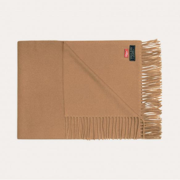 Echarpe en laine vierge camel
