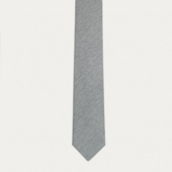 Cravate grise en flanelle