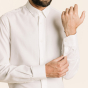 Classic fit white organic cotton shirt