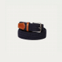 Blue wool belt