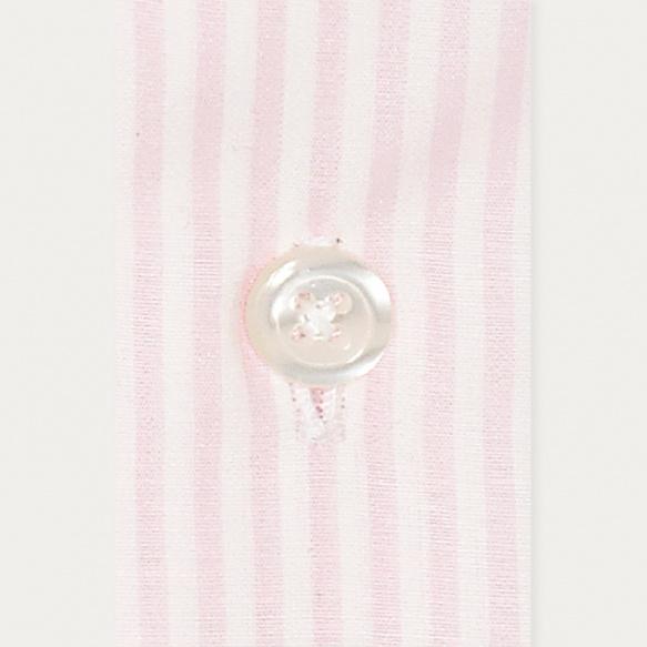 Extra-slim pink stripe shirt