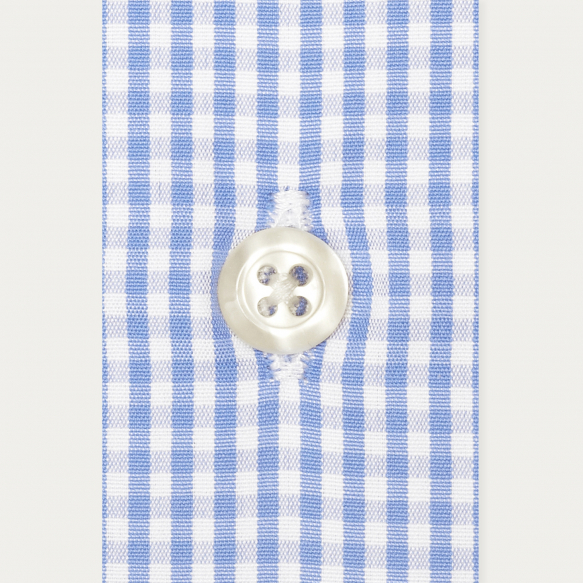 Slim fit blue gingham...