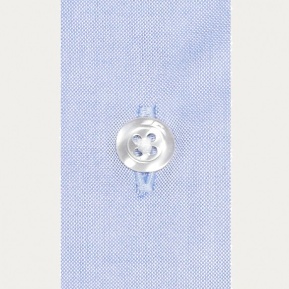 Chemise cintrée en oxford bleue