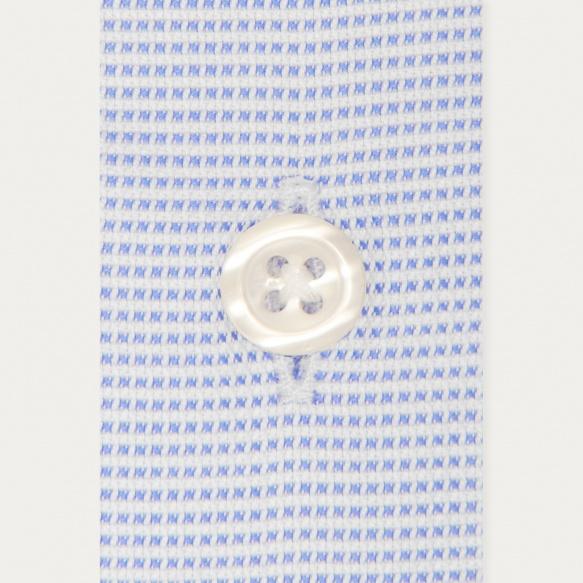 Chemise classique royal oxford pied de puce bleue