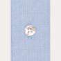 Chemise classique en fil-à-fil bleuet