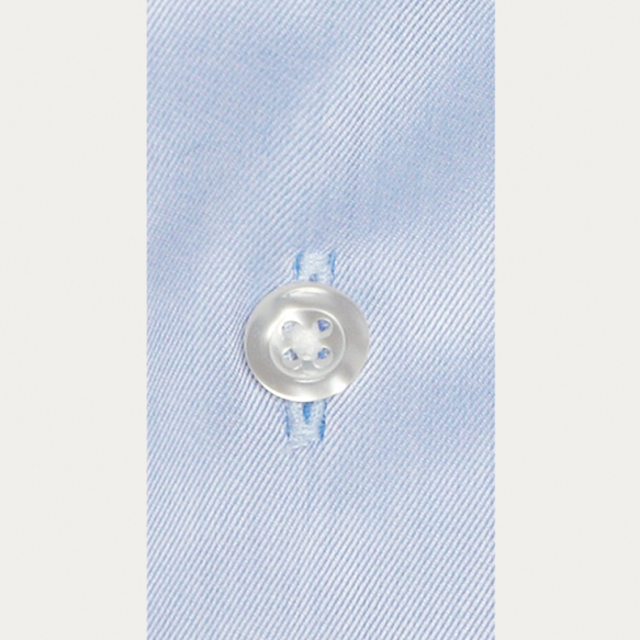 Chemise premium cintrée en twill bleue