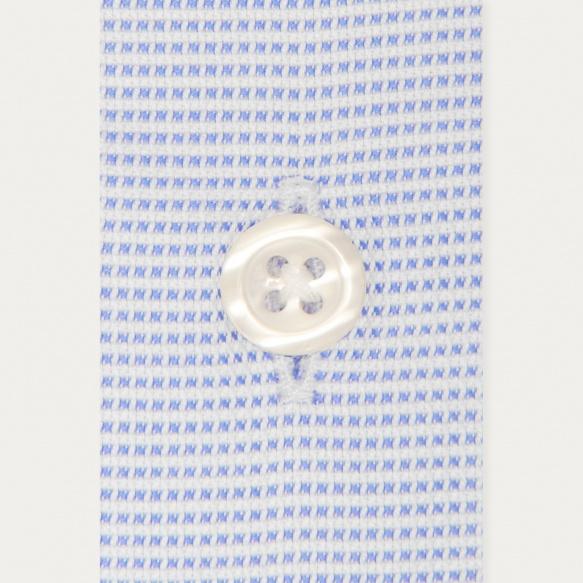 Chemise classique en royal oxford pied de puce bleue