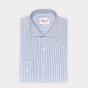 Slim fit dark blue checks poplin shirt