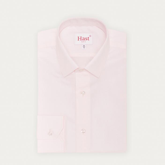 Classic fit light pink poplin shirt