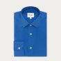 Petrol blue shirt with french collar