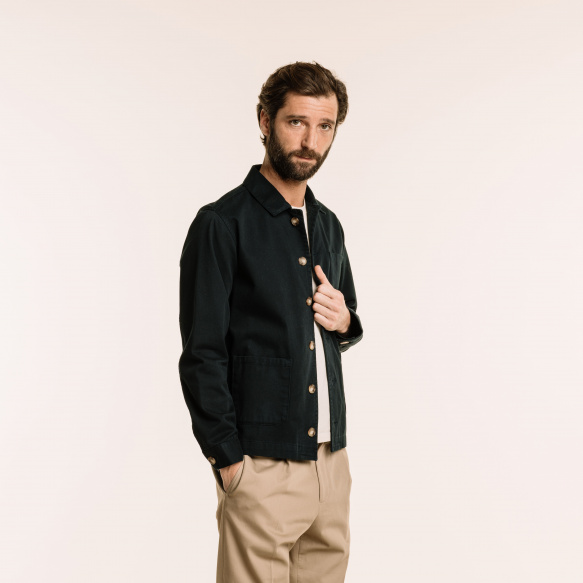 Navy blue worker's jacket
