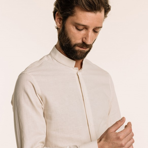 Classic fit hemp and cotton...