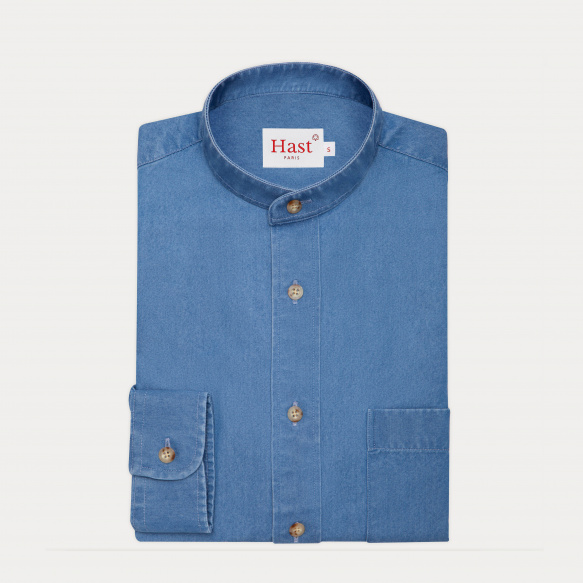Blue denim casual shirt