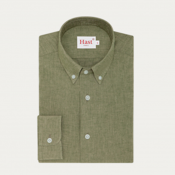 Green Japanese chambray...