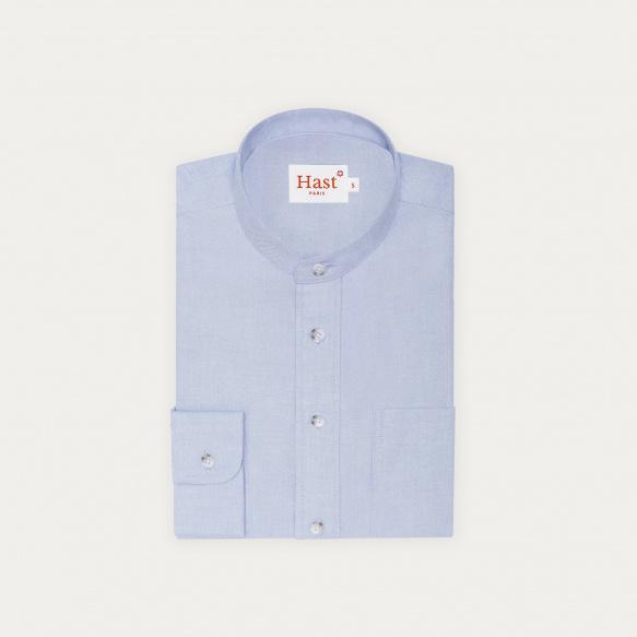 Chemise décontractée en oxford bleu clair