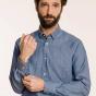 Classic fit blue structured denim shirt