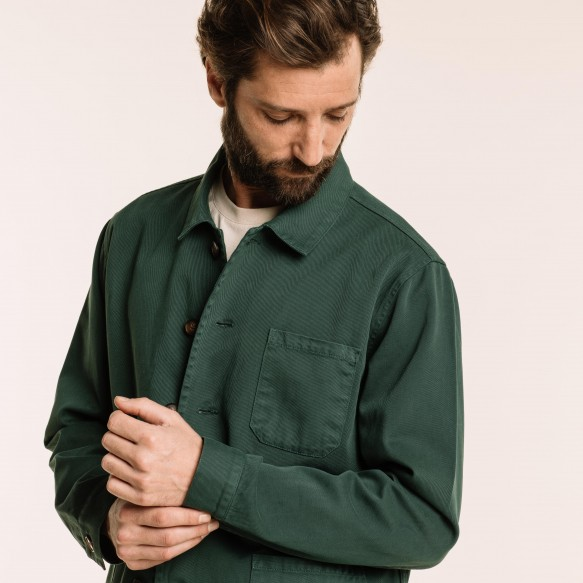 Green worker's jacket