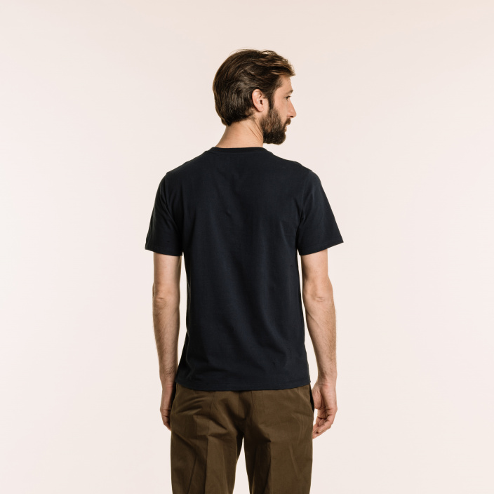 Navy blue organic cotton T-shirt