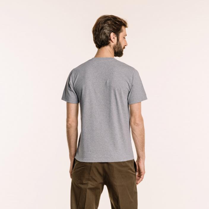 Tee-shirt en coton biologique gris