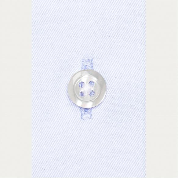 Chemise classique en twill bleu clair