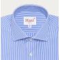 Slim fit dobby blue stripes shirt