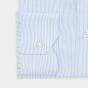Classic fit twill blue stripes shirt