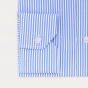 Chemise classique en dobby à rayures bleues