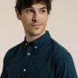 Chemise décontractée en oxford texturé bleue