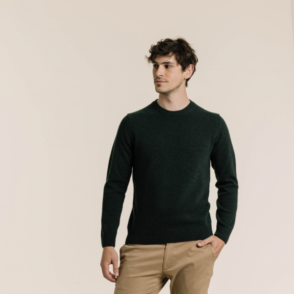 Pull en laine mérinos vert