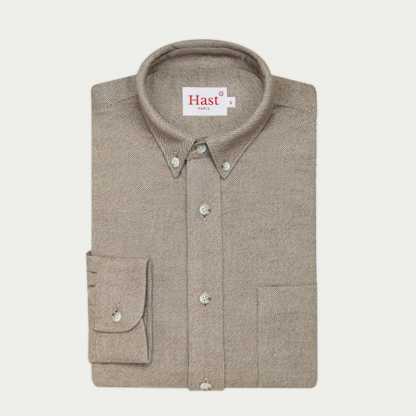 Beige flannel casual shirt